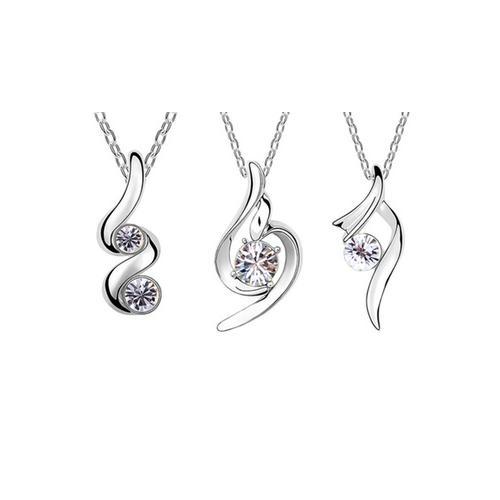 Halskette mit Anhänger mit Swarovski®-Kristallen: Infinito