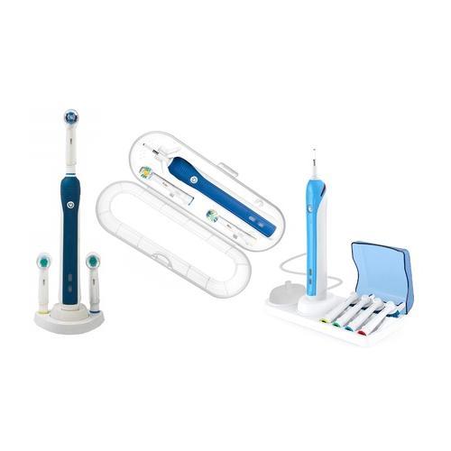 Basis für elektrische Zahnbürste: Zahnbürsten-Hülle + Basis für elektrische Zahnbürste mit Platz für 2 Bürstenköpfe