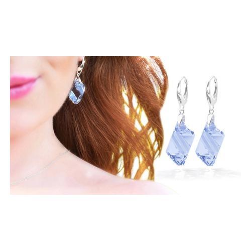 : Ohrringe mit Light Sapphire-Kristallen
