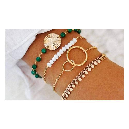 4er-Set Bohemian-Armband: 4