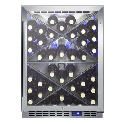 """Summit SCR611GLOSX 24"""" One Section Wine Cooler w/ (1) Zone - 40 Bottle Capacity, 115v"""