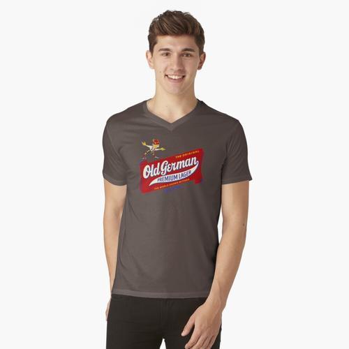 Altdeutscher Bier-Jahrgang t-shirt:vneck