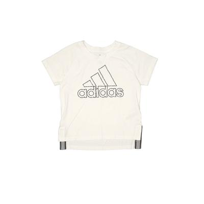 Adidas Active T-Shirt: White Solid Sporting & Activewear - Size 10
