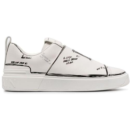 Balmain Bemalte B-Court Sneakers
