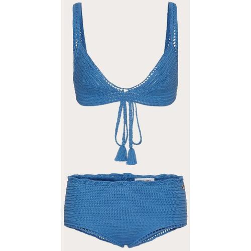 Valentino Bikini aus cotton crochet