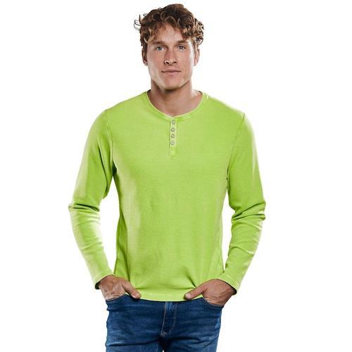 Henleyshirt in frischer Farbe Engbers Signalgrün