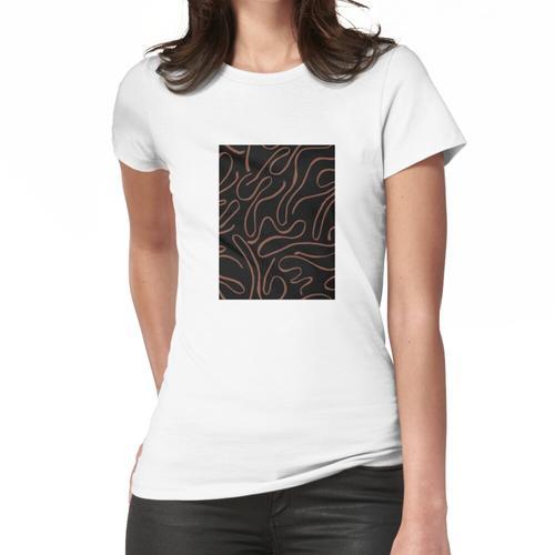 Schwarzbraun im Zick-Zack-Stil Frauen T-Shirt