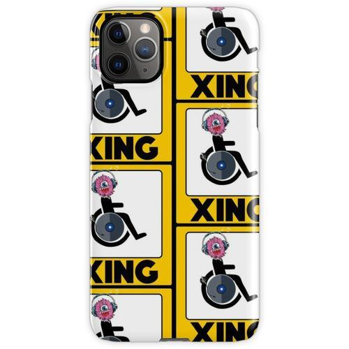 Lustige Rollstuhl-Strichmännchen DJ-Kreuz-Zeichen iPhone 11 Pro Max Handyhülle