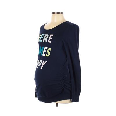 Motherhood Pullover Sweater: Blu...