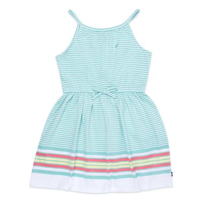 Little Girls' Striped Dress With Bow (4-6X)