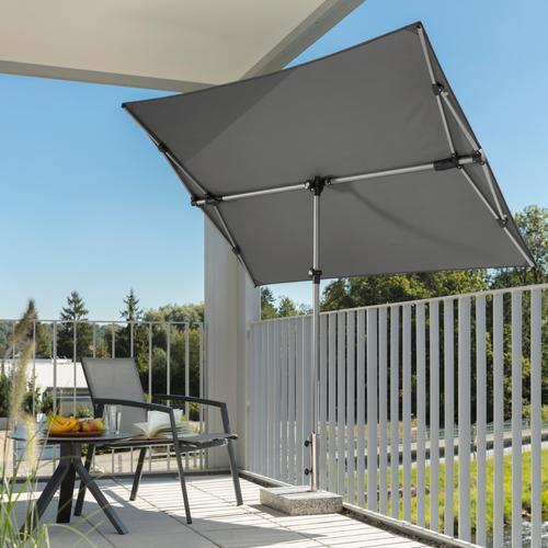 Schneider Schirme Sonnenschirm Novara, mit Schutzhülle, ohne Schirmständer grau Sonnenschirme -segel Gartenmöbel Gartendeko