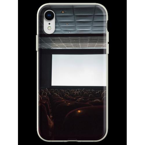 Leere Kinoleinwand mit Publikum. Flexible Hülle für iPhone XR
