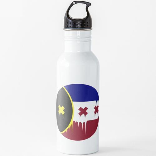 Schmelzflagge Wasserflasche