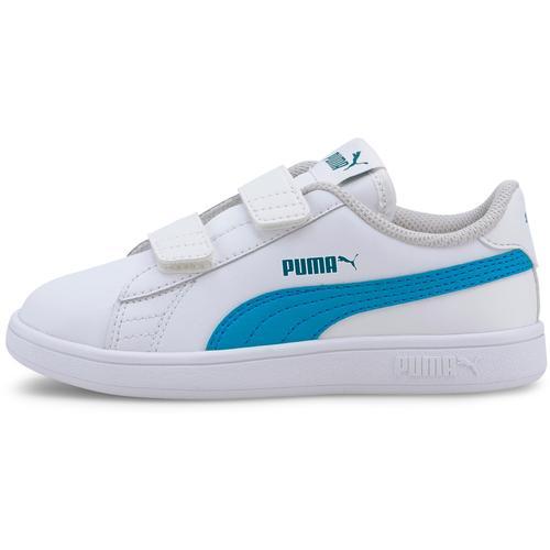 PUMA SMASH V2 Sneaker Kinder in puma white-dresden blue, Größe 33