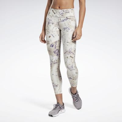 Reebok Women's Lux Perform Tights in Grey Size XS - Training Apparel