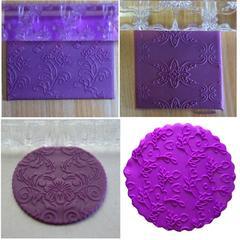 Rouleau à pâtisserie en acrylique antiadhésif en forme de fleur, 4styles, rouleau à pâtisserie en