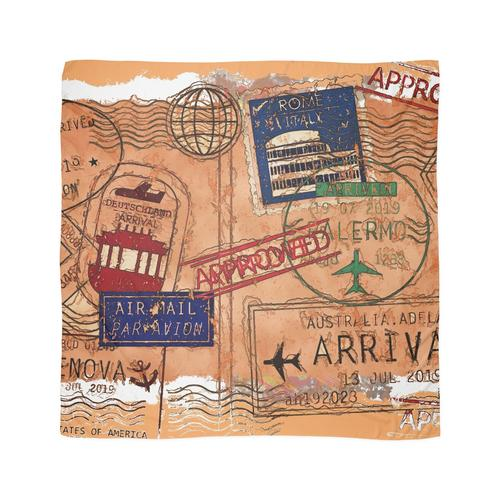 Eintrag genehmigt - Passstempel Tuch