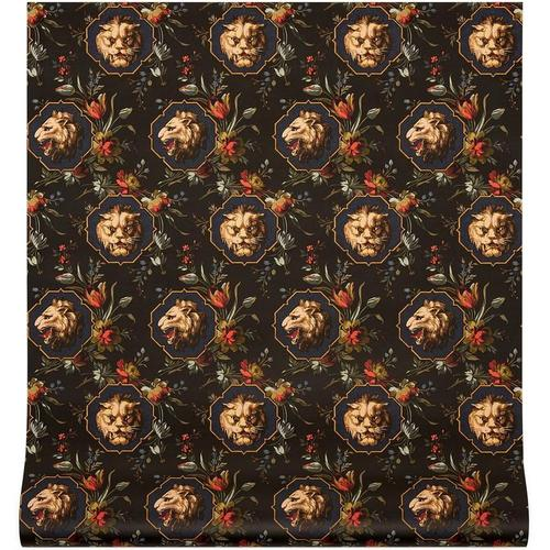 Gucci Tapete mit Grotesque-Print