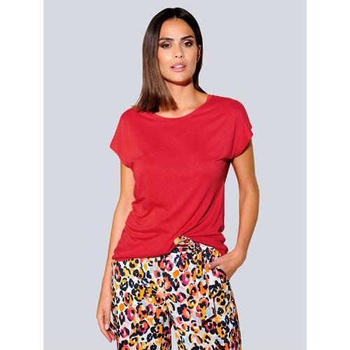 Alba Moda Oversize-Shirt, in aktueller Oversized-Form rot Damen Jersey Shirts Sweatshirts Oversize-Shirt