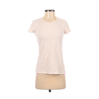 American Apparel - American Apparel Short Sleeve T-Shirt: Ivory Solid Tops - Size X-Small