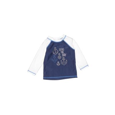 Cat & Jack Rash Guard: Blue Solid Sporting & Activewear - Size 3-6 Month