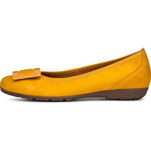 Gabor, Sommer-Ballerina in gelb, Ballerinas für Damen Gr. 41