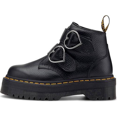 Dr. Martens, Schnallen-Boots Devon Heart in schwarz, Boots für Damen Gr. 41