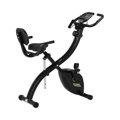 Gymrex Heimtrainer - zusammenklappbar - Rückenlehne - zusätzliche Griffe - schwarz GR-MG36
