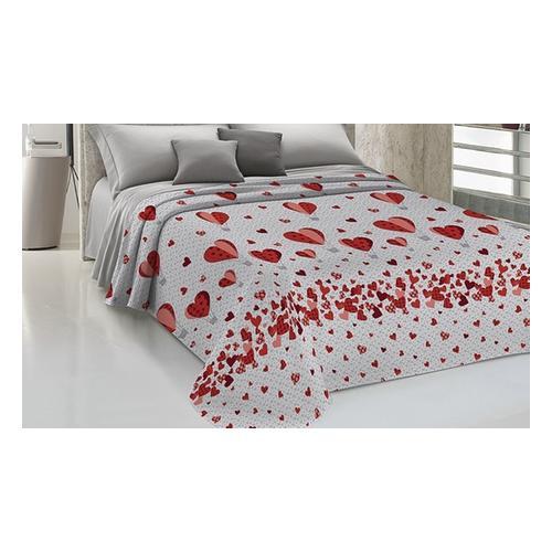Tagesdecke aus Baumwolle: Rot / 170 x 270 cm