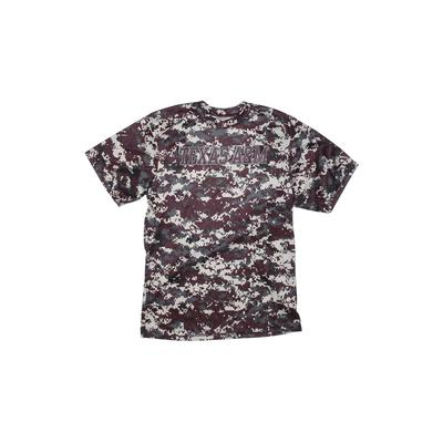 Badger Sport Active T-Shirt: Gray Floral Sporting & Activewear - Size Large