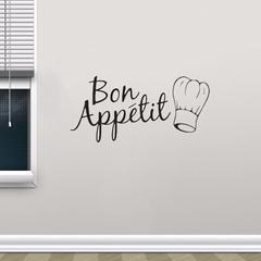 Autocollants muraux en vinyle Bon appet, décoration de salle de cuisine, sparadrap de cuisine,
