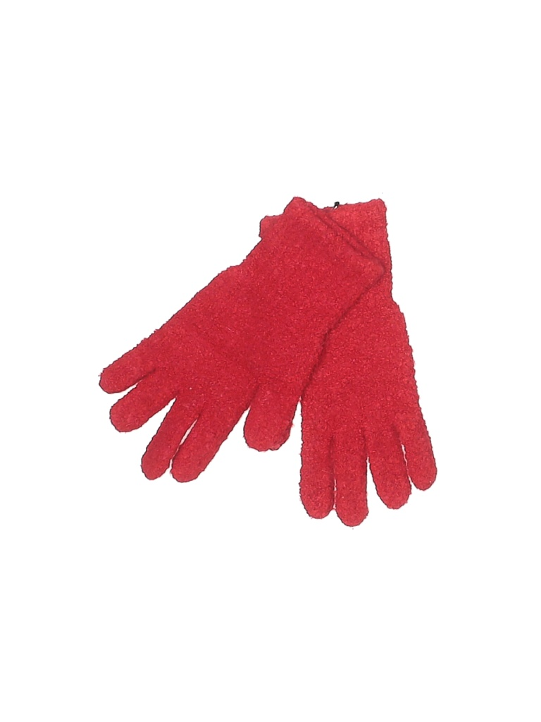 Moda International Gloves: Red Solid Accessories
