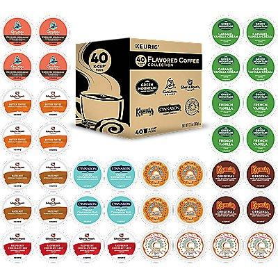 40 Ct Keurig Flavored Coffee Collection Variety Pack K-Cup Pods. Coffee