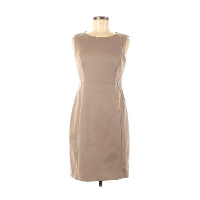 Elie Tahari for Nordstrom Casual Dress - Sheath: Tan Solid Dresses - Used - Size 6
