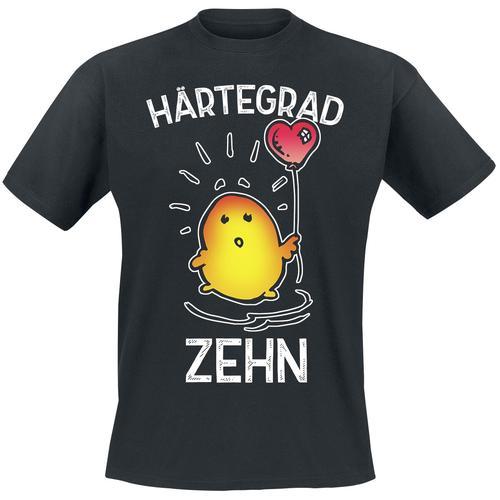 Härtegrad Zehn Herren-T-Shirt - schwarz