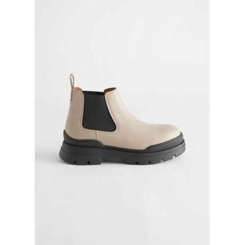 & Other Stories Klobige Chelsea-Boots Aus Leder