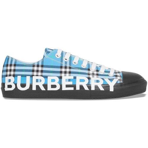 Burberry Karierte Sneakers mit Logo-Print