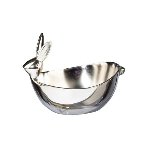 Deko-Schale Hase Creativ Deco Silber