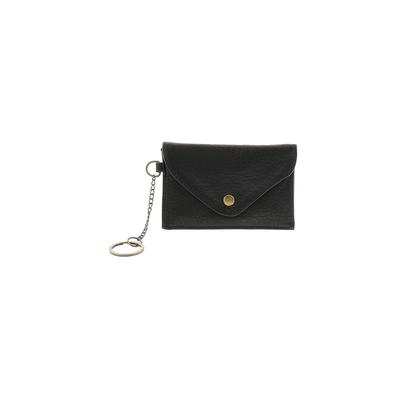 American Leather Co Leather Coin Purse: Black Solid Bags