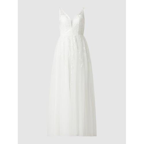 Luxuar Brautkleid aus Tüll mit Cut Outs