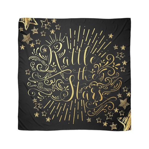 Rasseln Sie die Sterne - in Goldfolie Tuch