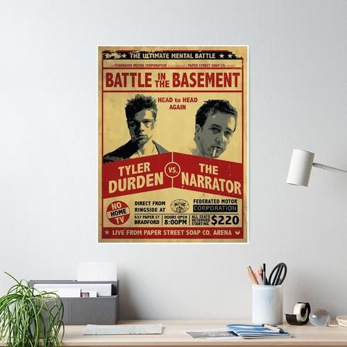 Battle in the Basament Poster