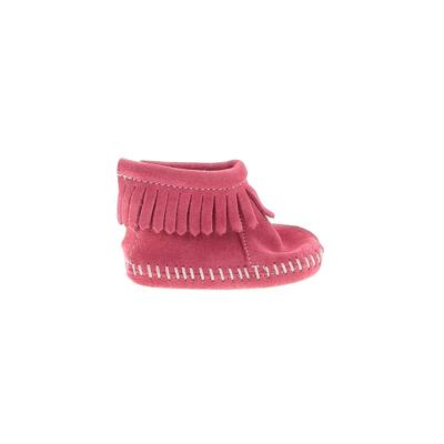 Minnetonka Booties: Pink Solid S...