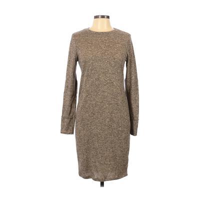 Pink Blush Casual Dress - Sweater Dress: Brown Dresses - Used - Size Medium