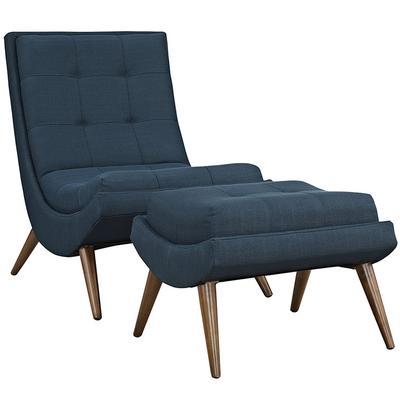 Ramp Fabric Lounge Chair Set in Azure - East End Imports EEI-2143-AZU