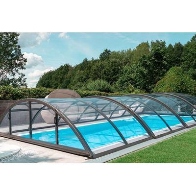 Automatische Poolüberdachung - elektrisch mit Motor SkyCover® Base Clear 4.2x8.5m
