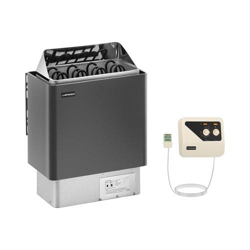 Uniprodo Set Saunaofen mit Saunasteuerung - 6 kW - 30 bis 110 °C UNI_SAUNA_G6.0KW-SET-2