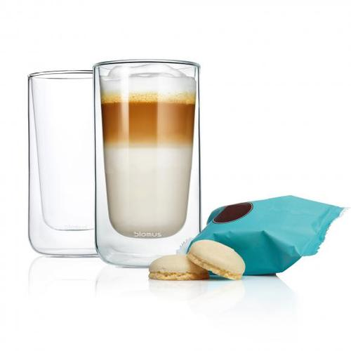Blomus NERO Thermo-Latte Macchiatogläser, 2er Set 63655