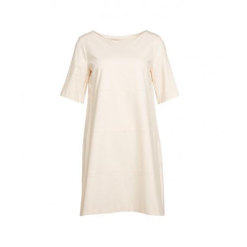 Kaos Damen Kleid mit dekorativen Nähten Beige