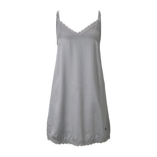 TOM TAILOR Damen Nachthemd mit Spitze, grau, Gr.42